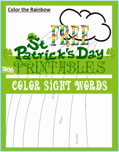 Saint Patrick's Day Printables: Sight Word Rainbow Coloring Sheet