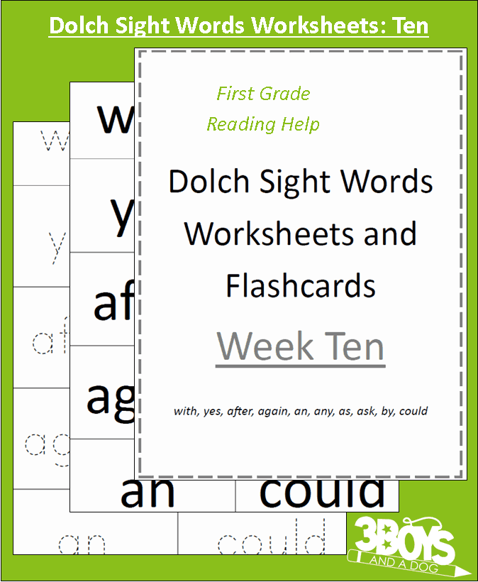 Dolch Dolch games dolch Week sight Week Sight printable Words Worksheets: Ten Sight 101  Words memory word