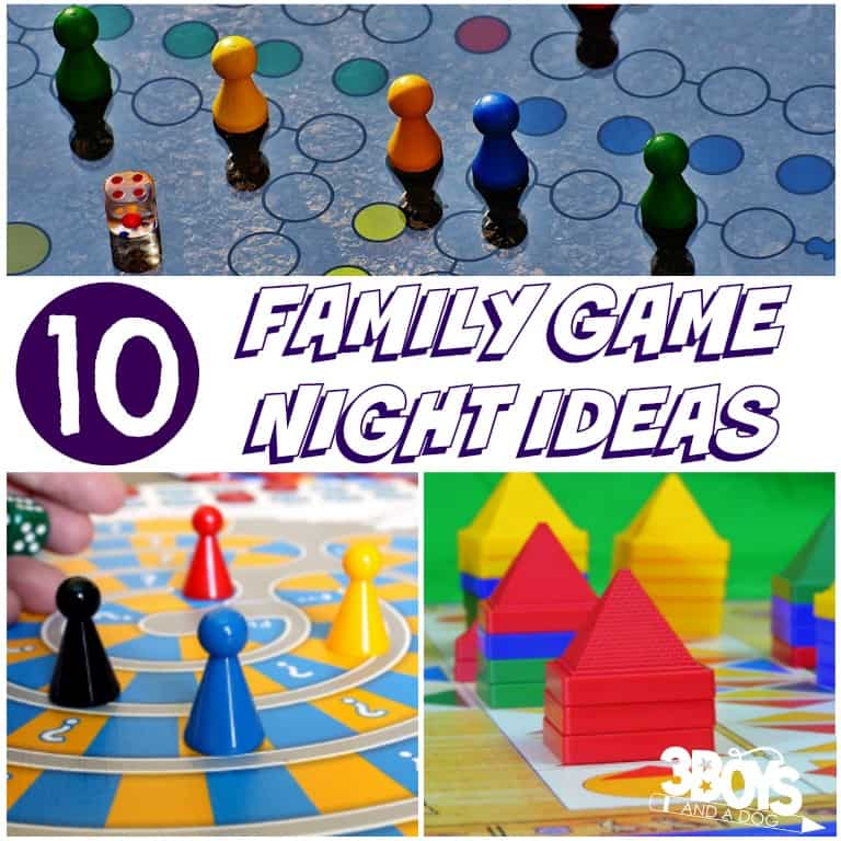 Family Game Night Ideas - 3 Boys and a Dog