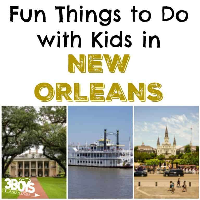 New orleans 10 things to do with kids 3 boys and a dog for Things to do in mew orleans