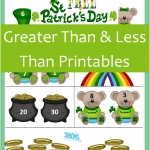 Saint Patrick's Day Printables: Greater Than and Less Than