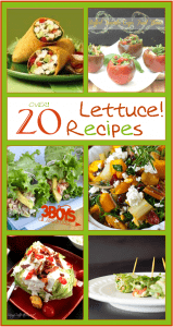 Over 20 Recipes Using Lettuce {March Seasonal Vegetable}