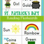Saint Patrick's Day Reading Flash Cards