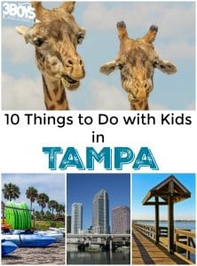 Tampa: 10 Things To Do With Kids!