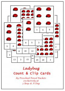 The Ladybug Game Counting Cards {Family Game Night}