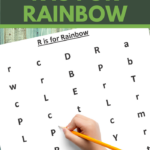 find the letter r is for rainbow worksheet