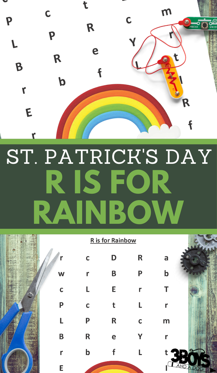 st paddy letter r recognition practice for preschoolers