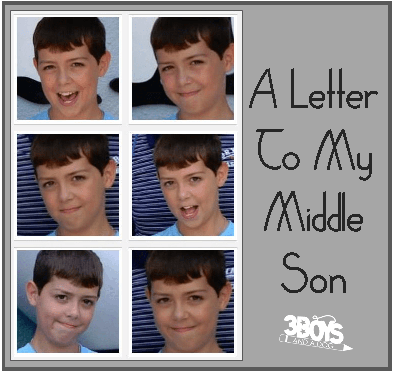 A Letter to My Middle Son
