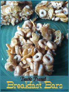 Double Peanut Breakfast Bars