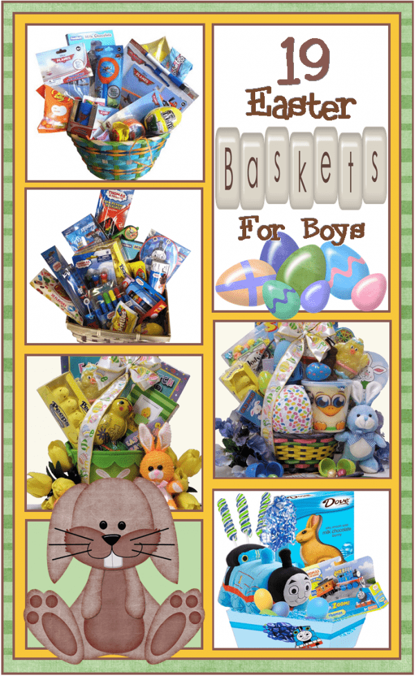 19 boys basket ideas for Easter