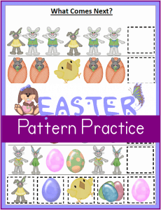 Printable Easter Worksheets:  Patterns – What Comes Next?