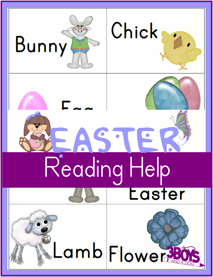 Easter Reading Flashcards