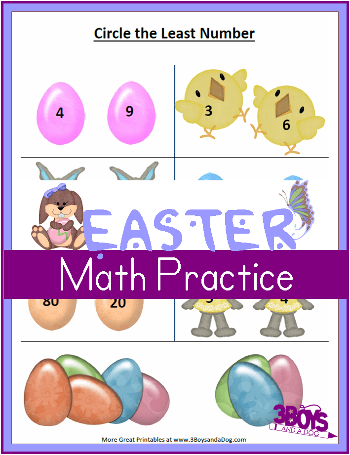 Easter Second Grade Math Practice