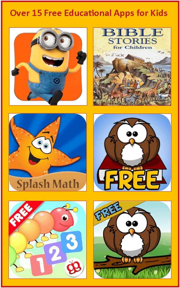 Over 15 free educational apps for kids