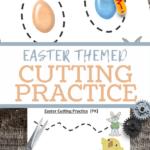 preschool fine motor cutting or tracing practice worksheet