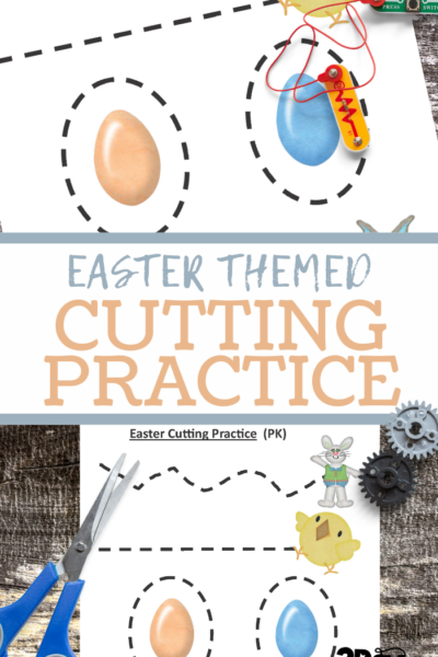preschool fine motor cutting or tracing practice worksheet