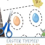 easter scissor skills printable worksheet