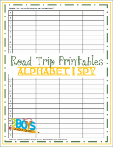road trip printables for kids