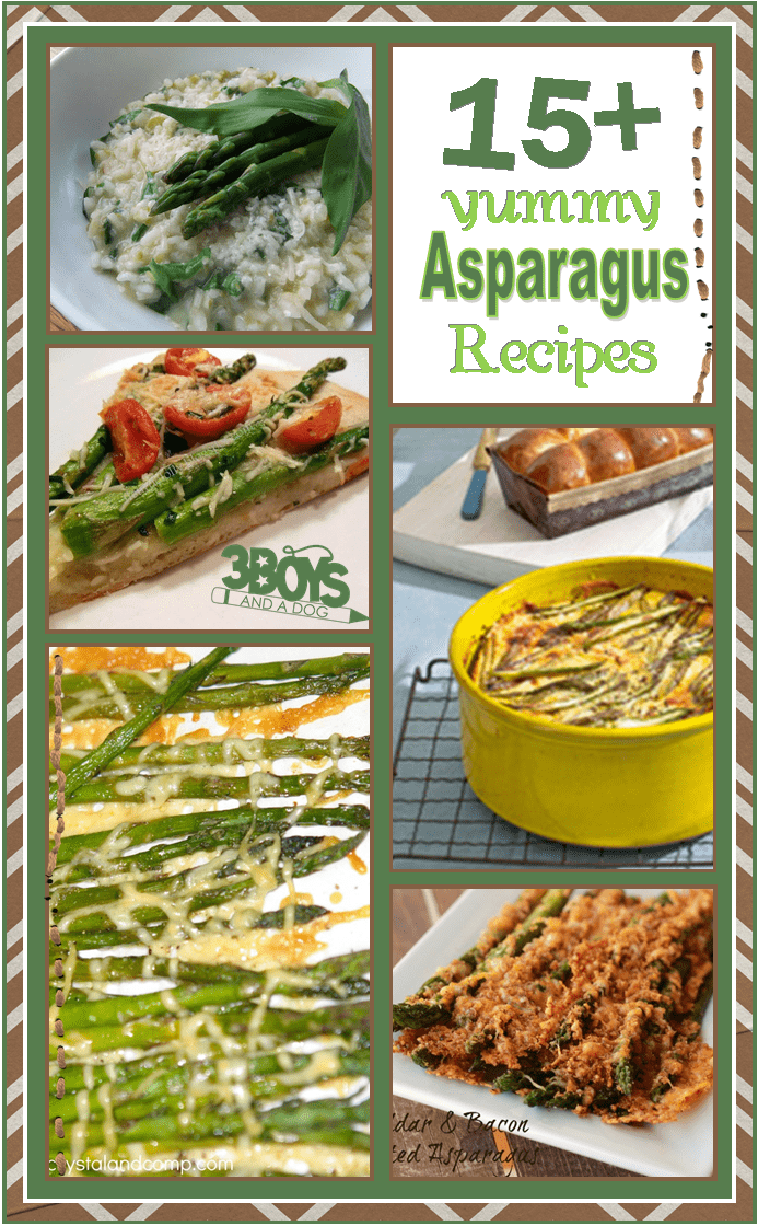 over 15 yummy asparagus recipes
