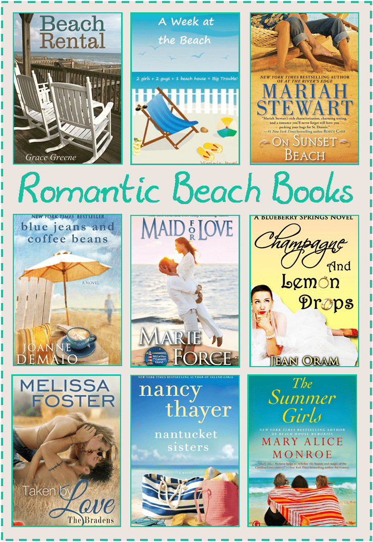 romantic, beach themed books for Mom