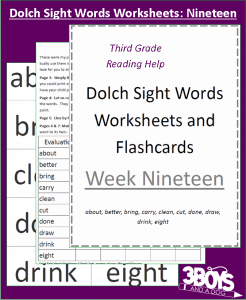 sight words for third grade