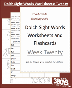 Worksheets to help your child master sight words