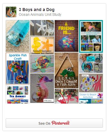 Ocean Animals Unit Study on Pinterest