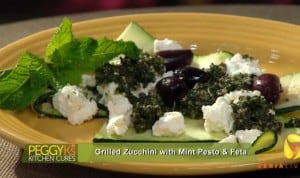 Grilled Zucchini with Mint Pesto & Feta Recipe