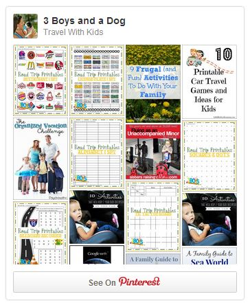Travel With Kids Pinterest Board