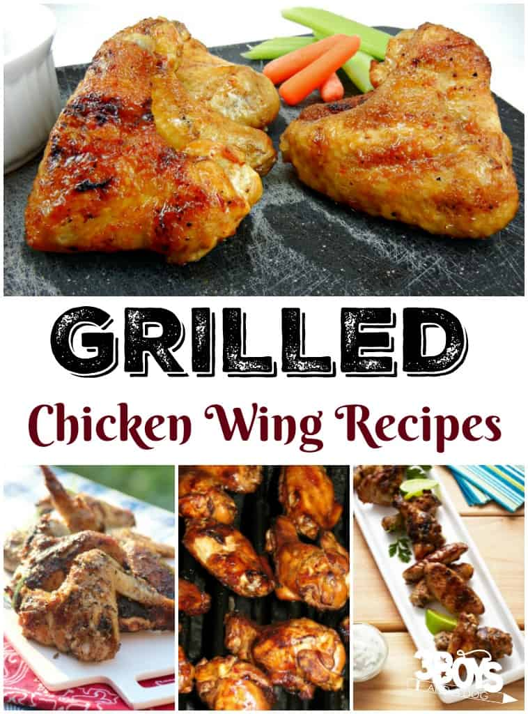 Grilled Chicken Wing Recipes - 3 Boys and a Dog