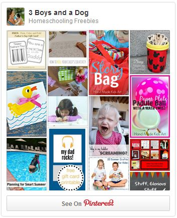 Homeschooling Freebies Pinterest Board