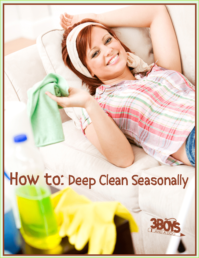 How to deep clean seasonally