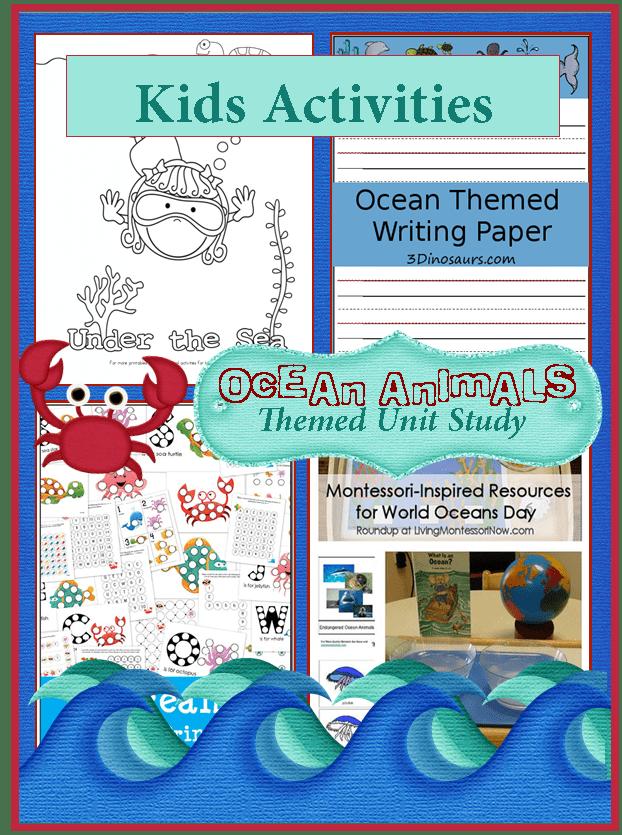 Ocean Animals Kids Activities