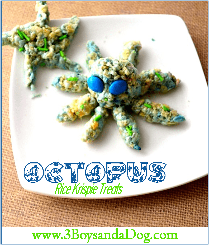Octopus Rice Krispie Treats