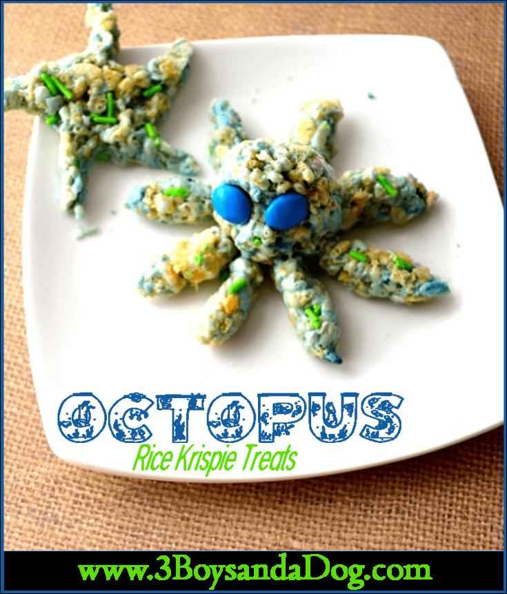 Underwater Octopus Rice Krispie Treats
