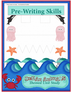 Ocean Animals Unit Study: Preschool Writing Practice