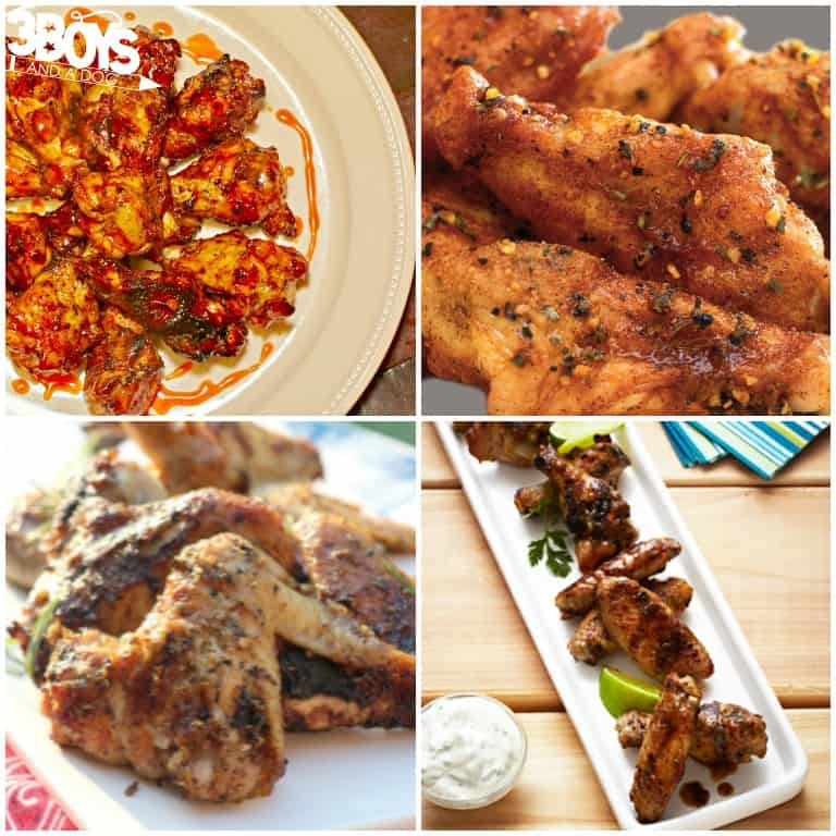 Recipes for Grilled Chicken Wings - 3 Boys and a Dog