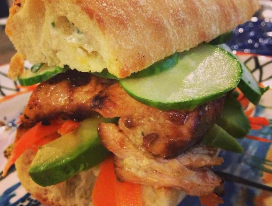 Grilled Salmon Sandwiches with Creamy Avocado