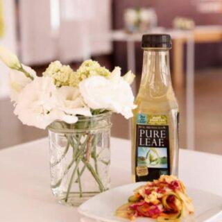 Plum, Mint & Pea Salad with Tea Vinaigrette
