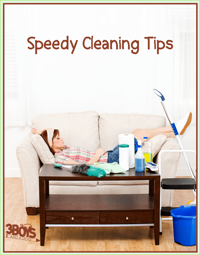 Speedy Cleaning Tips