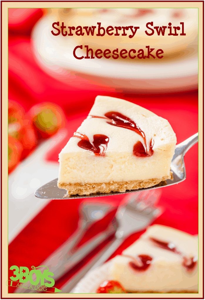 Strawberry Swirl Cheesecake Recipe 698x1024 Strawberry Swirl ...