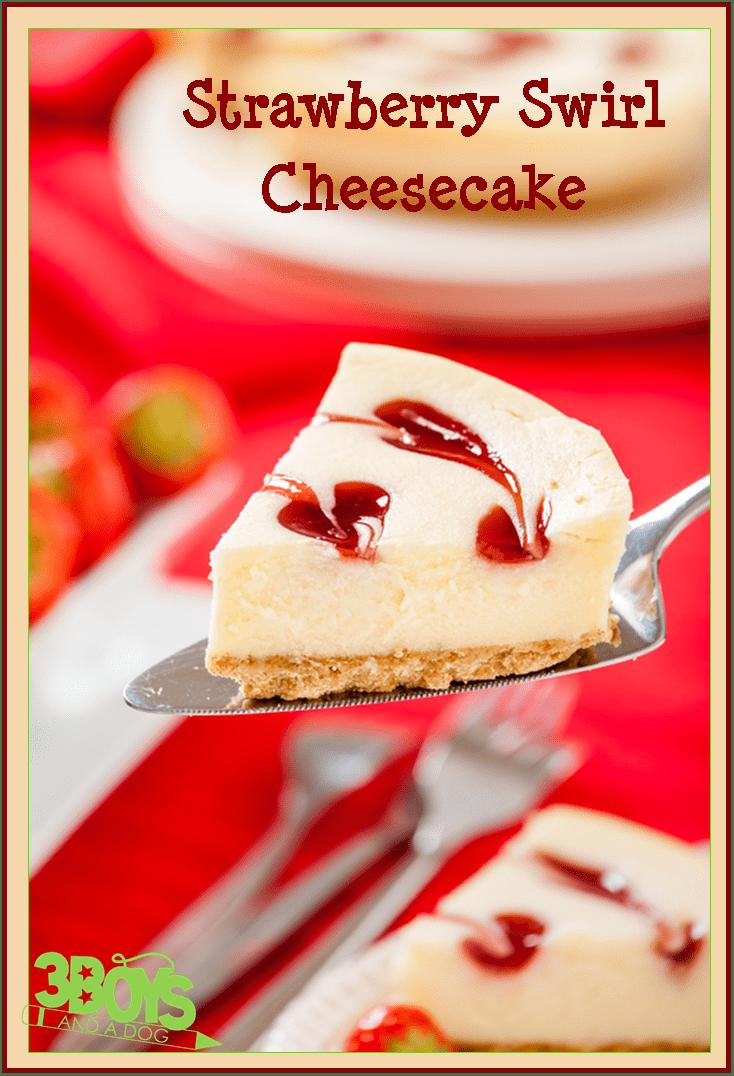 Strawberry Swirl Cheesecake Recipe Strawberry-swirl-cheesecake- ...