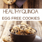 healthy quinoa chocolate chip cookies