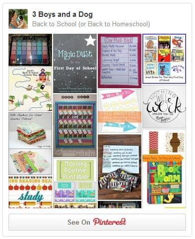 Back to School Pinterest Board