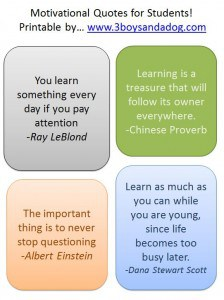 Back to School: Motivational Quotes for Students