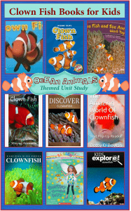 Clown Fish Books for Kids  {Ocean Animals Unit Study}