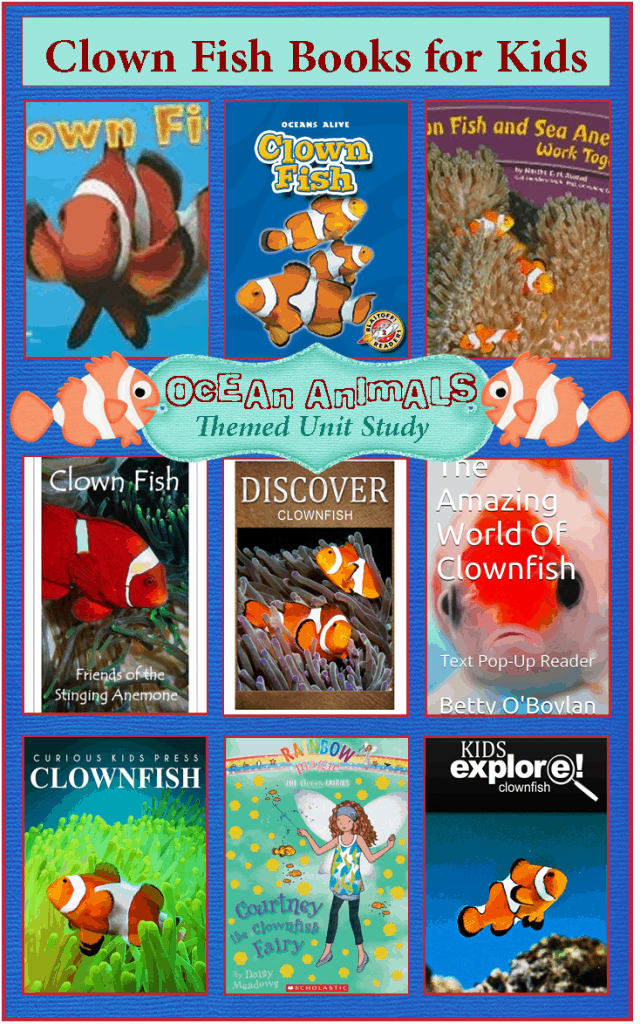 Clown fish pictures for kids for Fish children s book