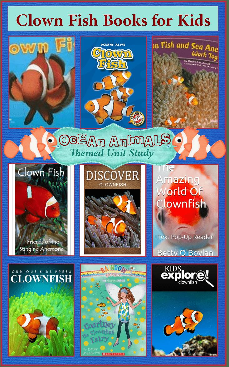 Clown fish books for kids ocean animals unit study 3 for Fishpond books