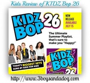 Kids Review of KIDZ Bop 26 CD