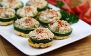 Hungry Girl's Cheesy Tuna Salad Stackers